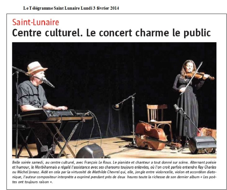 Le Télégramme Saint Lunaire Lundi 3 février 2014